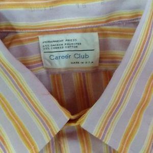 Vintage career club dress shirt